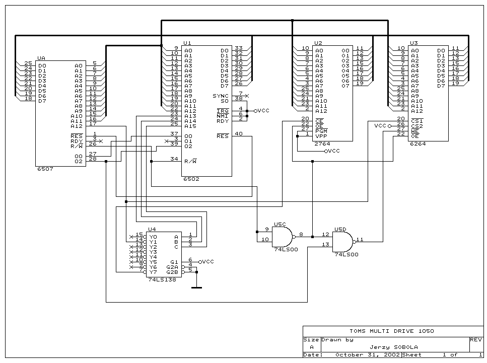 atari 1050 tom u0026 39 s multi drive circuit diagram