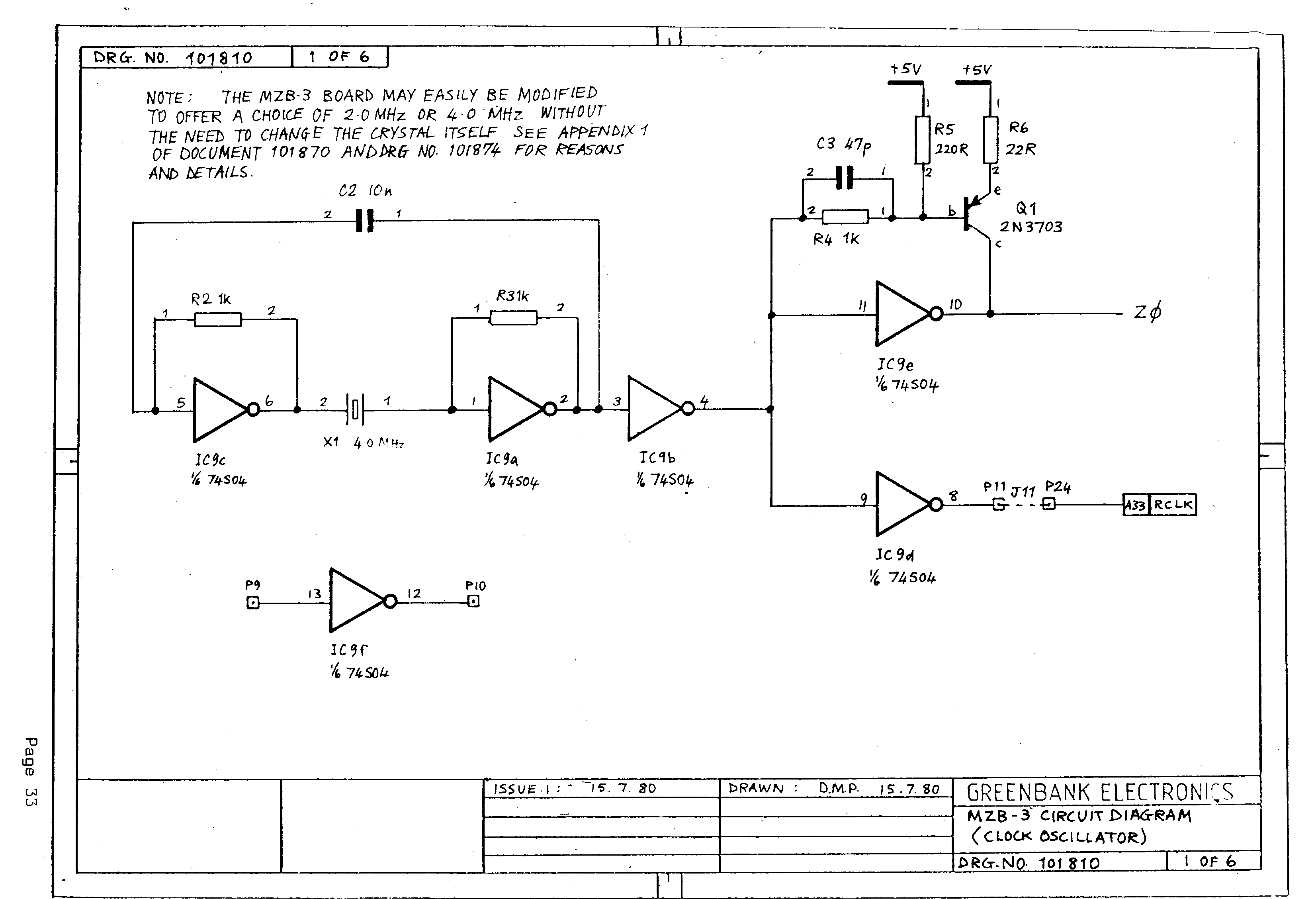 MZB-3 BUFFERED Z80 CPU  KEMITRON' BOARD